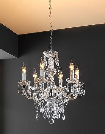Schon Kronleuchter Lüster Pendelleuchte Deckenlampe PASCHA | Acryl | Transparent  | Ohne Leuchtmittel