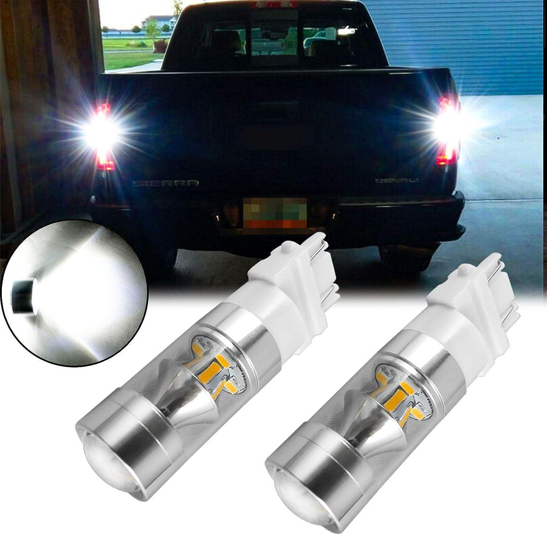 2x HID White 92-SMD LED Car Truck DRL Daytime Running Light Bulbs 3157 4114 4157