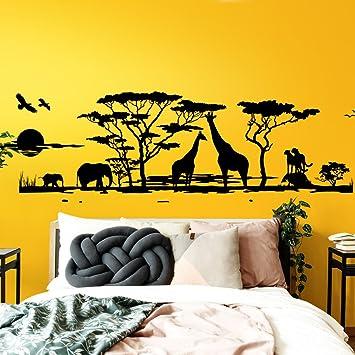 Grandora W683 Wandtattoo Afrika Savanne Tiere Wohnzimmer ...