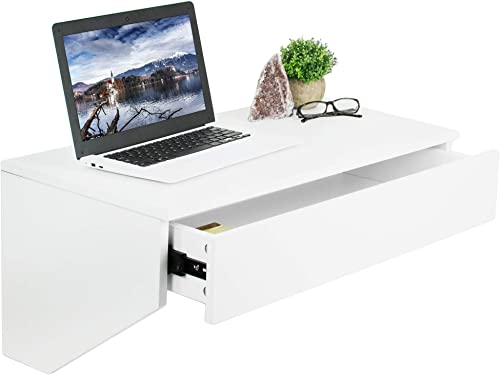 VIVO White Wall Mounted Desk