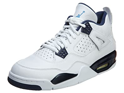 Nike Mens Air Jordan 4 Retro LS Columbia White/Legend Blue-Midnight Navy Le