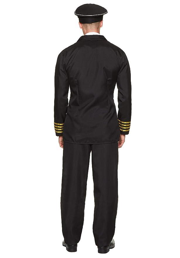 Karnival 82237 - Disfraz de piloto de aerolínea, para hombre ...