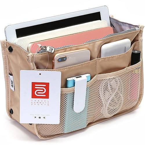 f84c5d827141 IN Multi-Pocket Travel Handbag Organizer Insert for Tote Bag Purse Liner  Nylon