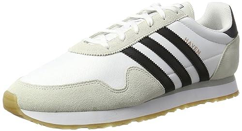 reputable site 11344 44b13 adidas Originals Haven Scarpe da Ginnastica Basse Uomo, Bianco (White) 49  1 3 EU  Amazon.it  Scarpe e borse