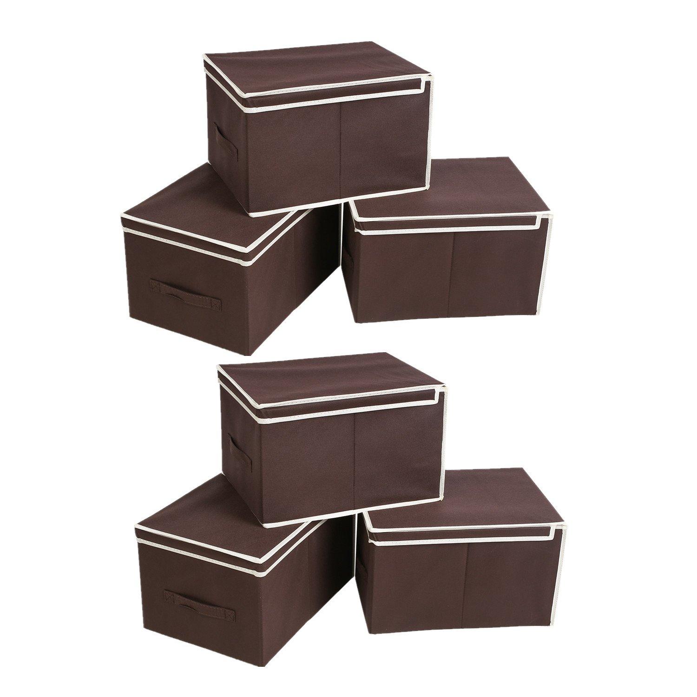 10x Burgundy Faltbox mit Deckel Box Regalbox Aufbewahrungsbox Stoffbox faltbar