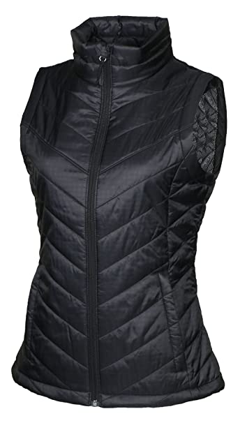 Columbia Womens Morning Light III Onmi Heat Winter Jacket Vest, Black (010) , Medium best women's heated vest