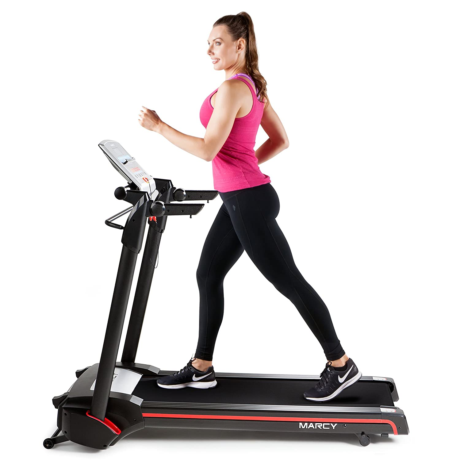 Marcy Easy Folding Motorized Treadmill Pre Assembled Electric Running Machine JX-651BW