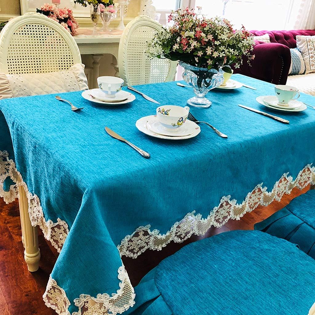 HFY テーブルクロスソフトで快適な長方形のポリエステルテーブルクロスブルーグリーン (色 : 緑, サイズ さいず : 150*230cm) 150*230cm 緑 B07SBHQD6P