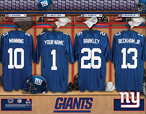 Amazon.com   Personalized New York Giants Wall Poster 7c5229cdf