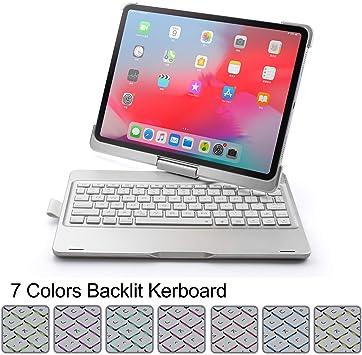 Funda de teclado para iPad Pro 11 2018 teclado Bluetooth ...