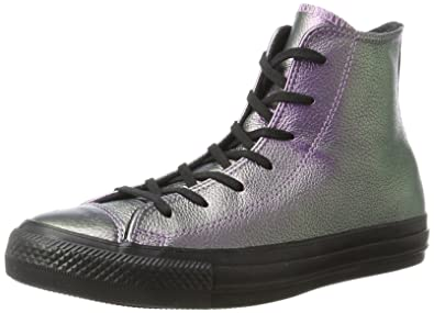 5f02584c0cab Converse Unisex Adults  CTAS Hi Violet Black Black Hi-Top Trainers  Multicolour
