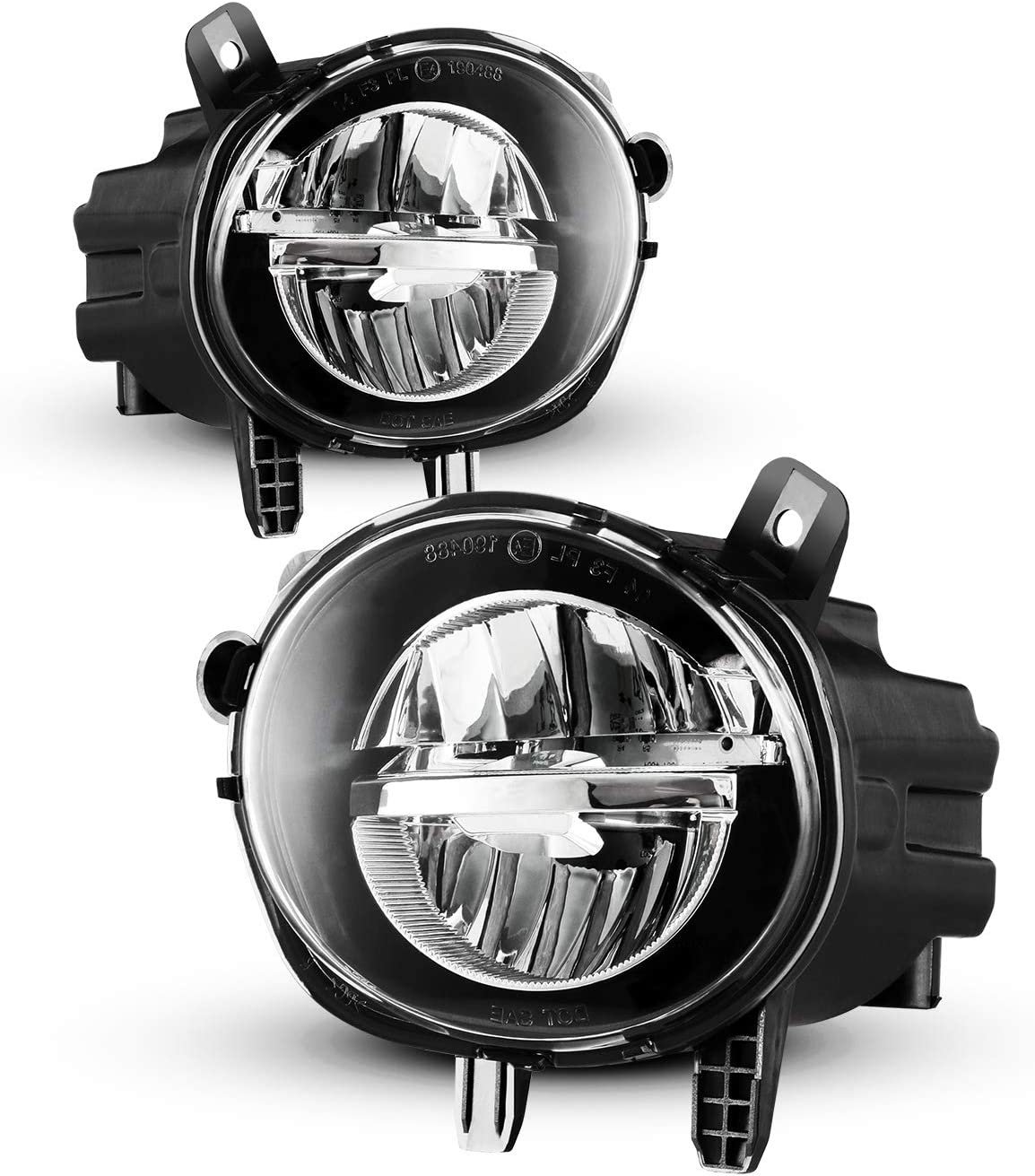 LED Fog Lights Fit For 2012-2018 BMW F30 3 Series// 2014-2019 BMW F32 F33 F36 4 Series 2PCS LED Fog Lamps With Clear Lens AUTOWIKI