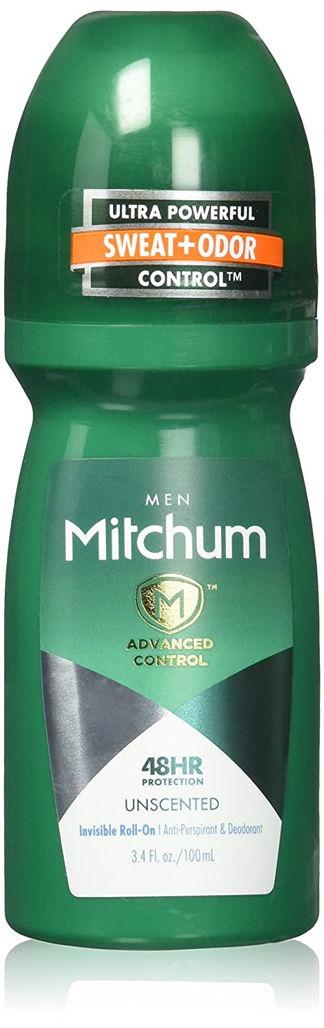 Mitchum Advance with *New* Oxygen Odor Control Technology, Invisible Roll-on Antiperspirant & Deoderant, Unscented 3.4 Oz (2 Pack - 6.8 Oz Total) REVLON INC BEAUTY CARE