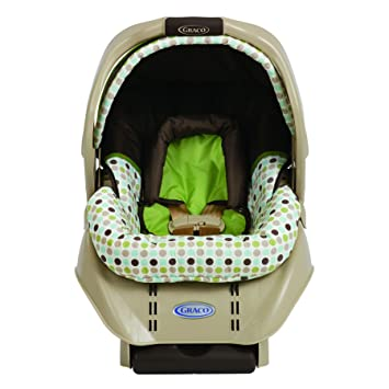 Graco SnugRide Infant Car Seat Barlow Brown Green And White