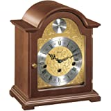 Hermle Hand Made Traditional Bracket Style Mantle Clock - Walnut Finish with Westminster Chime