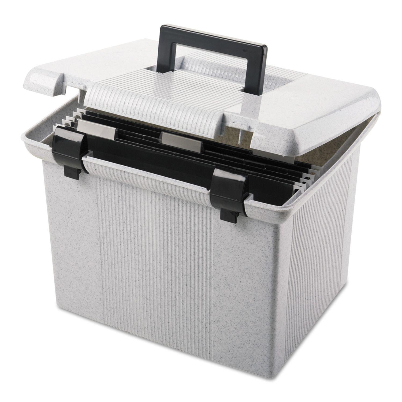 Pendaflex Large Plastic Portafile File Storage Box, Granite (Letter)
