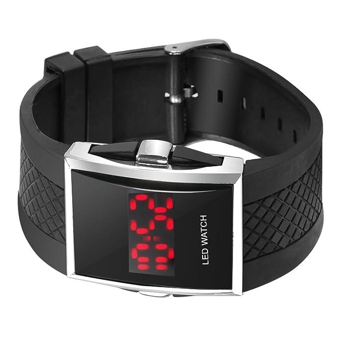 Digiflex Reloj de Muñeca Deportivo LED; Roja Digital, Lujo, Hombre, Regalo - Negro: Amazon.es: Relojes
