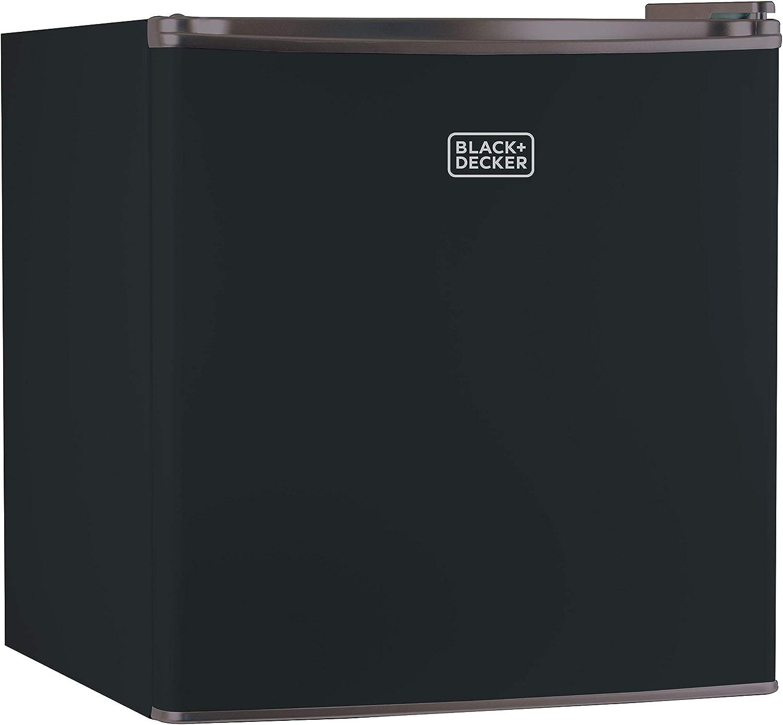 BLACK+DECKER BCRK17B Compact Refrigerator Energy Star Single (Renewed)