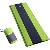 Weisshorn Self Inflatable Sleeping Pad Single/Double Portable Camp Sleeping Mat Air Inflating 2.5CM-Thick Rollable…