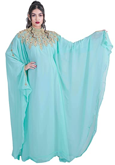 ebdba843fc05 Athena Kaftan Women Long Sleeve Chiffon Maxi Dress Formal Gown ...