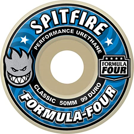 Spitfire Formula Four Classic 99du 51mm Skateboard Wheel 51mm White/Blue