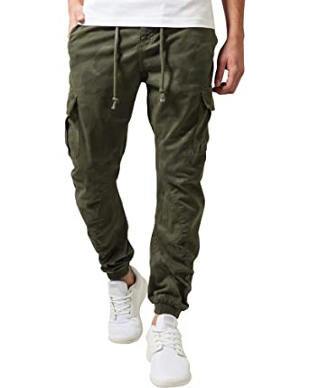 fairer Preis groß auswahl näher an Urban Classic Khaki Camouflage Cargo Jogger Pants - Size: FR ...