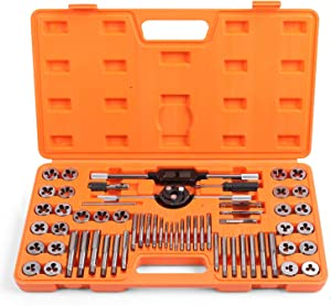HORUSDY 60-Piece Master Tap and Die Set | SAE Inch and Metric Sizes | for Coarse and Fine Threads Tools