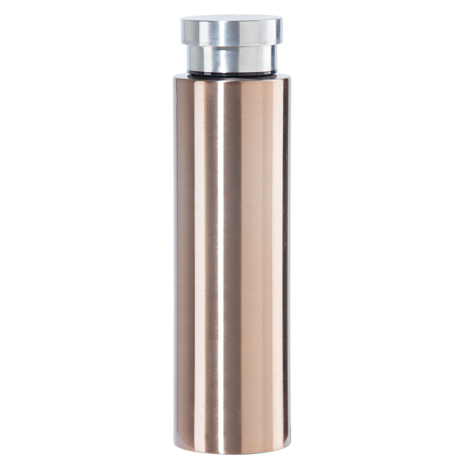 Oggi 8092.4 Stainless Steel Cosmo Lustre Double Walled Vacuum Sealed Sport Bottle with Screw Top -Gold .5 LT, 17 OZ