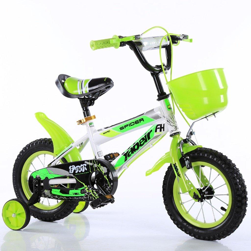 美しい 家チャイルドフォールド自転車3-6-8歳のベビーベビーカー12インチ14インチ16インチ18インチバイク (色 : 緑, サイズ さいず : 16Inch) B07CXFQD55 16Inch 緑 緑 16Inch