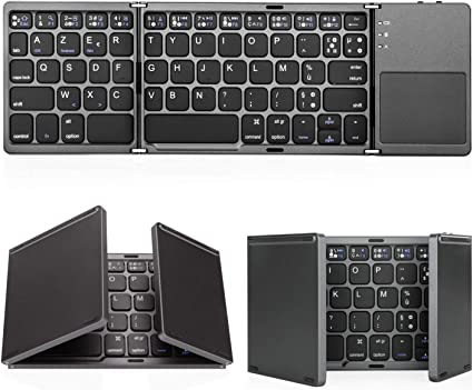 1 BY ONE Clavier Bluetooth AZERTY avec Un Ecran Tactile