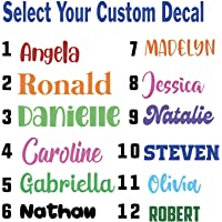 Personalized Custom Font Name Decal Sticker Compatible with Yeti RTIC Tumbler Cup, Laptop, Phones, RV, Boats, Notebooks…
