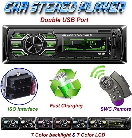 Tekhome Autoradio Mit Bluetooth Freisprecheinrichtung Elektronik