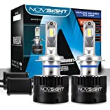 NOVSIGHT LED Headlight Bulbs Conversion Kit - H7 LED Car Front Light Headlamp Replacement - Extremely