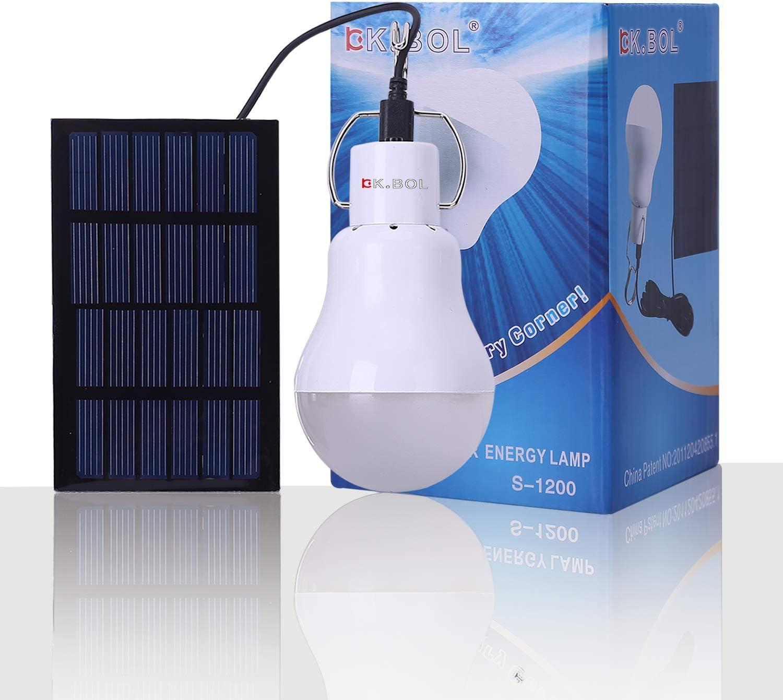 KK. Bol Solar lámpara portátil luz LED Bombilla Panel Solar ...