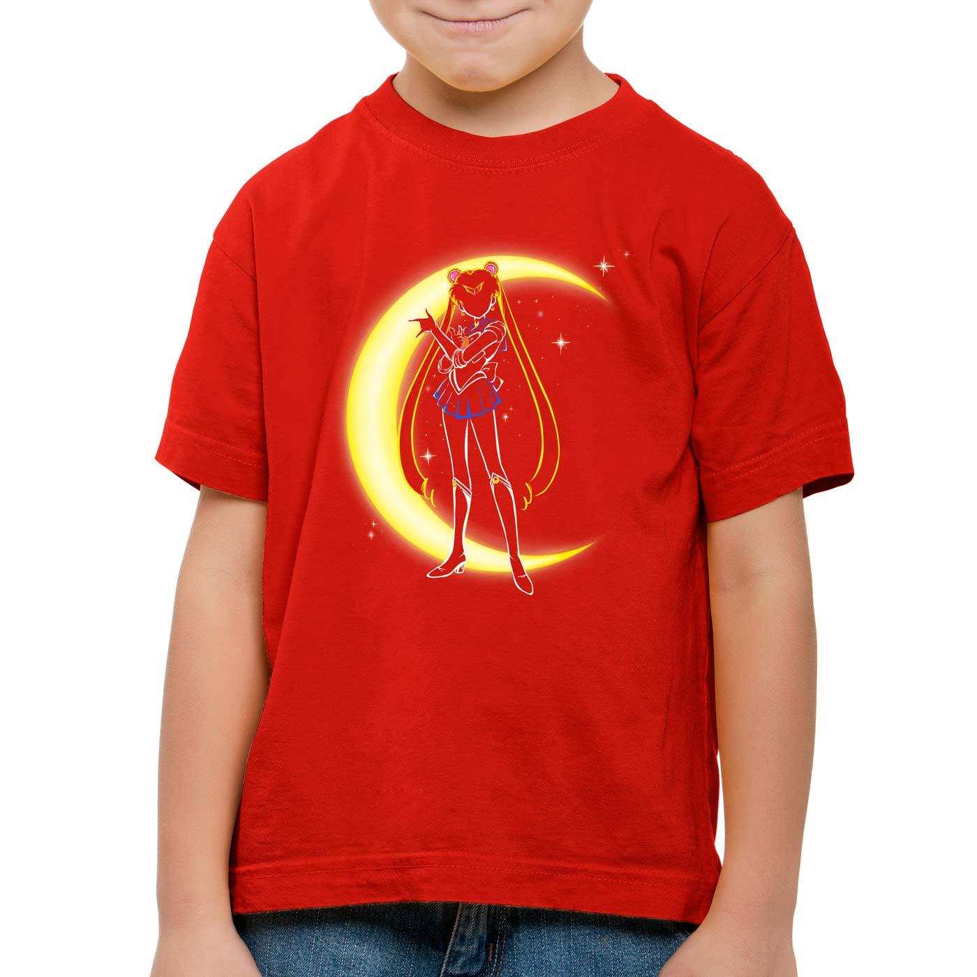 style3 Mondzauber T-Shirt f/ür Kinder Sailor mondstein Moon Luna Bunny Mars Anime