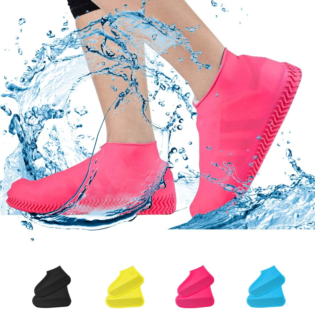 HB 2 Pairs Unisex Anti-slip Waterproof Shoes Cover Outdoor Hiking Boots Oversho