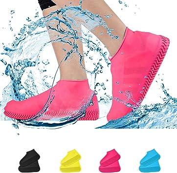 NEW Womens Mens Waterproof Shoe Covers Non Slip Rain Snow Boot Galoshes RF