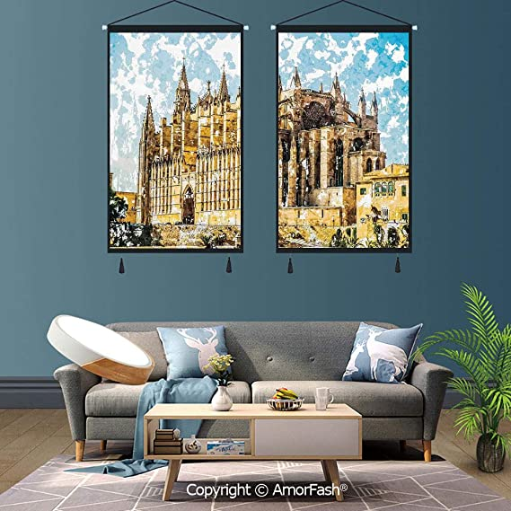 Amazon.com: SCOXIXI Gothic Decor,2 PCS Canvas Wall Art,for ...