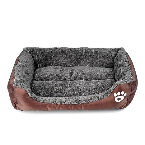 Cucha para perros, gatos y animales, sofá cama, con cojín, suave,