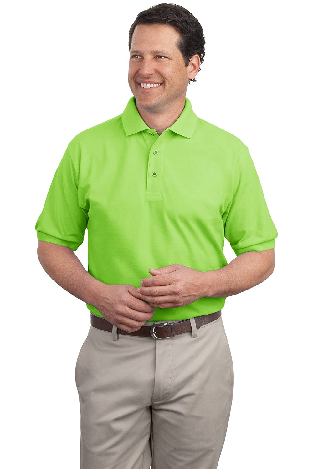 Silk Touch Sport Shirt, Color: Lime