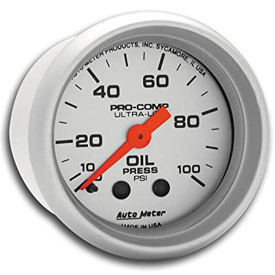 Auto Meter 4321 Ultra-Lite Mechanical Oil Pressure Gauge: Automotive