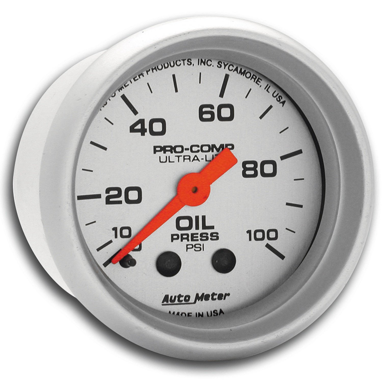 Auto Meter 4321 Ultra-Lite Mechanical Oil Pressure Gauge
