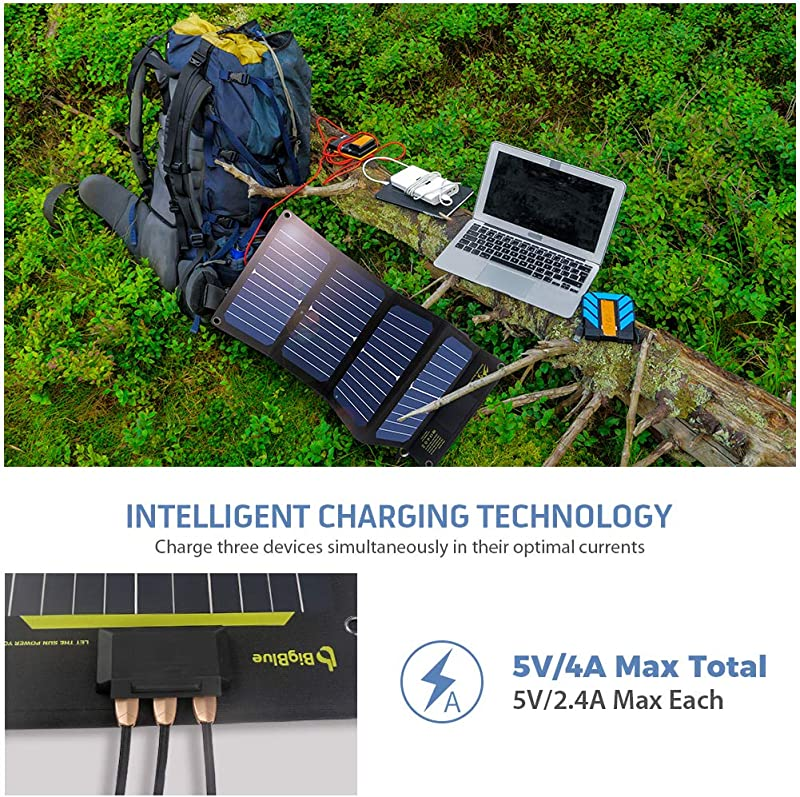 Slim Solar Phone Charger BigBlue 24W