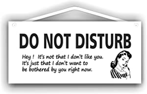 MySigncraft Do not Disturb Sign with Retro Female Image for Indoor or Outdoor use