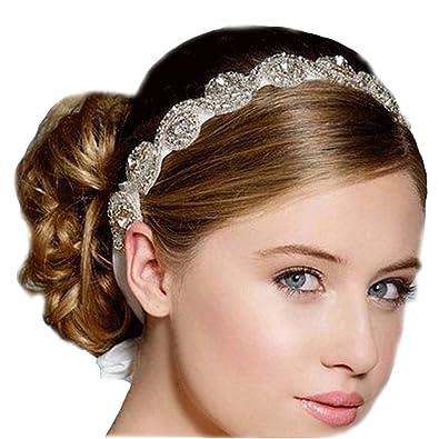 Mariée Bijoux Strass Cheveux Bandeau cheveux bijoux cheveux fleurs de  mariage Tiara