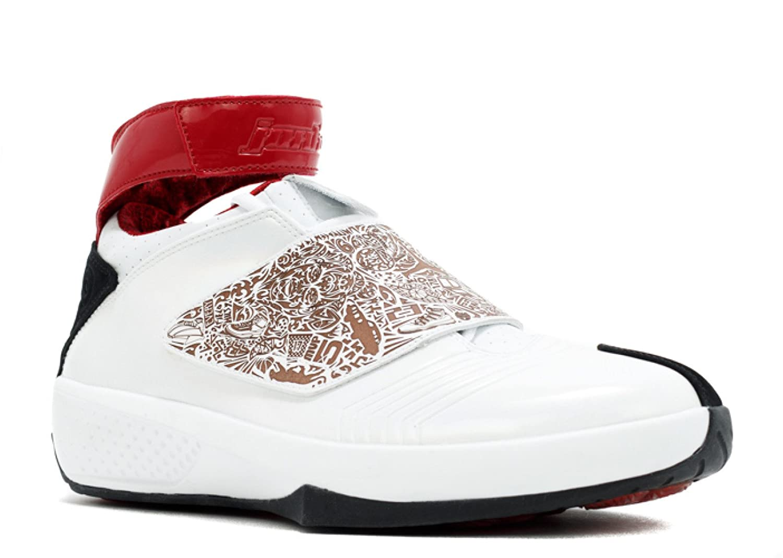 on sale e6b3f b17ea Amazon.com   Air Jordan 20-310455-161 - Size 11.5 White, Varsity Red-Black    Basketball