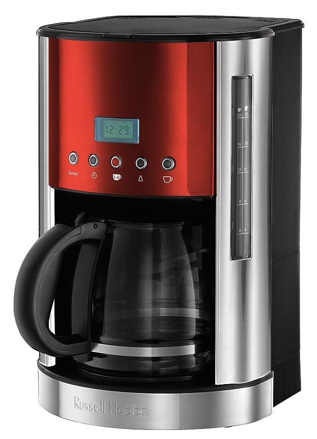 12 opinioni per Russell Hobbs 18626-56 Macchina Caffè, 1050 Watt, 1.8 Litri, Plastica, Rosso
