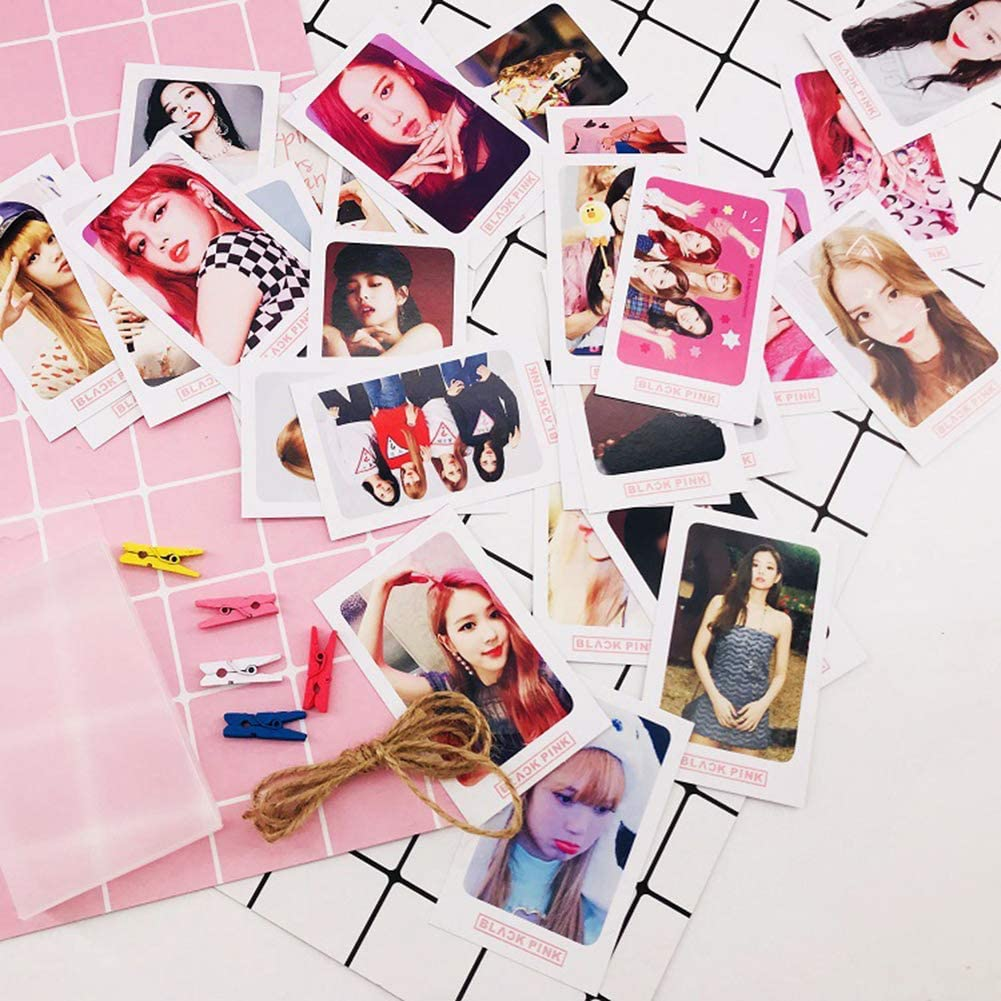 32 teile//satz Koreanische KPOP BLACKPINK M/ädchen Foto Karte PVC Karten Selbst Made LOMO Karte photocard