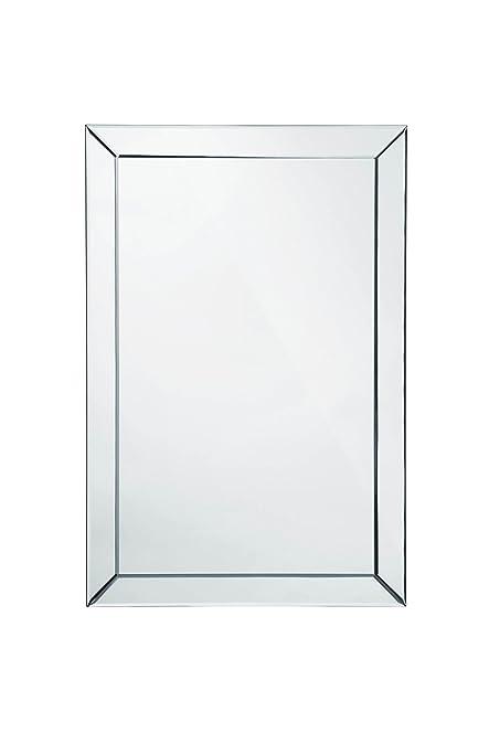 mirror 60 x 90. premier housewares wall mirror bevelled corner edge, 60 x 90 cm i