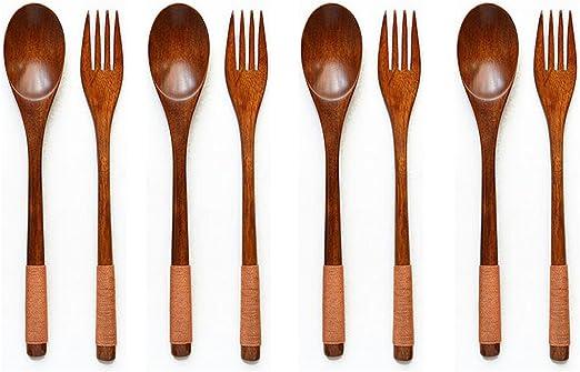 Natural Spoon Soup Dinner Spoon Flatware Tableware Utensils Rice Dessert W